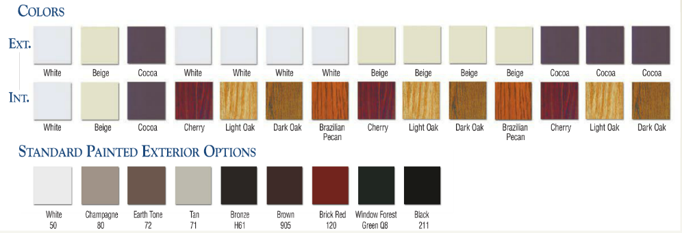 "K&H Home Solutions offers several ""Enhancement"" colors"