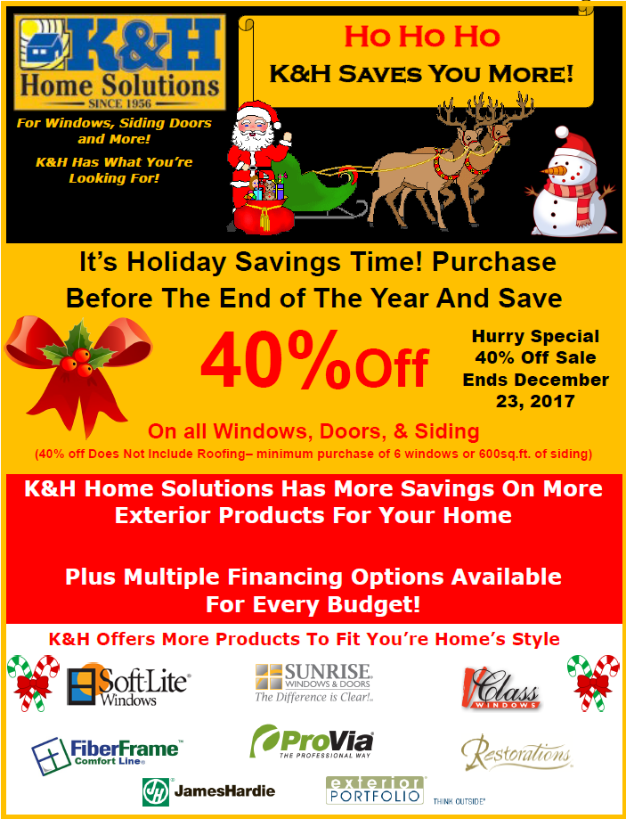 K&H Holiday Special 40% Off