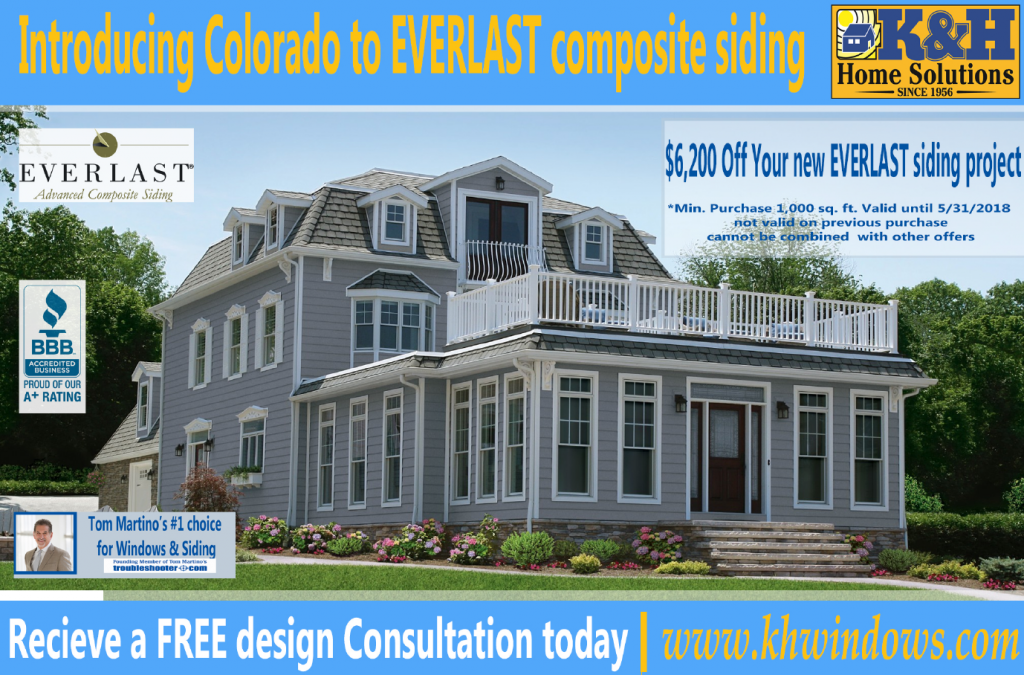 May siding special $6,200 off Everlast siding project